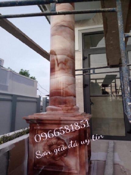 Thi công sơn giả đá cẩm thạch tại hà nội