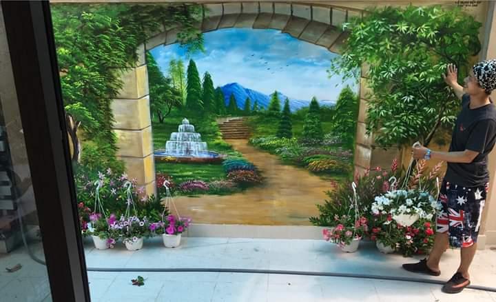 Vẽ tranh tường bình dương