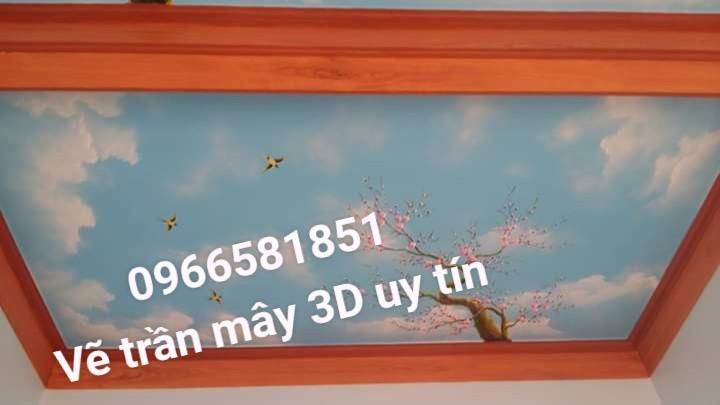 Vẽ trần mây 3d bình dương