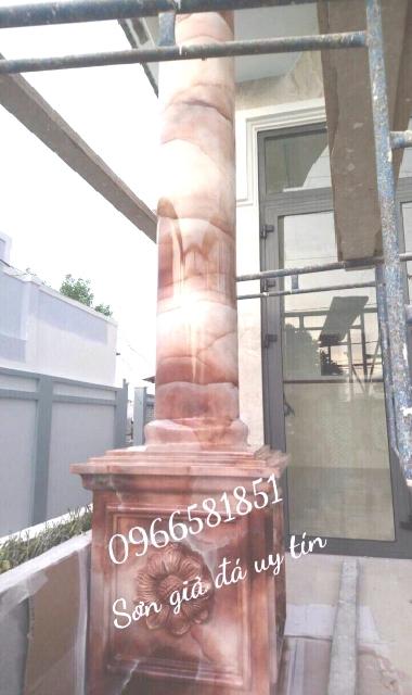 Mẫu cột sơn sơn giả đá đẹp