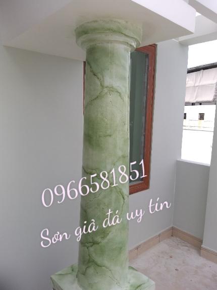 Cột tròn sơn giả đá cẩm thạch
