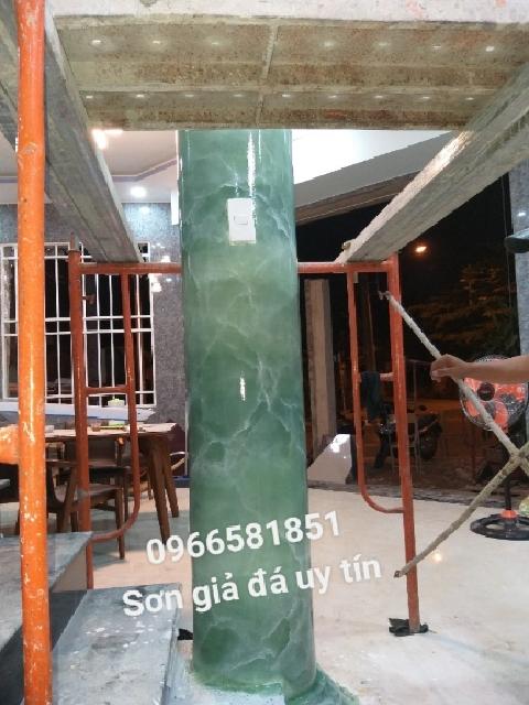 Thi công Sơn giả đá cẩm thạch tại Long Thành
