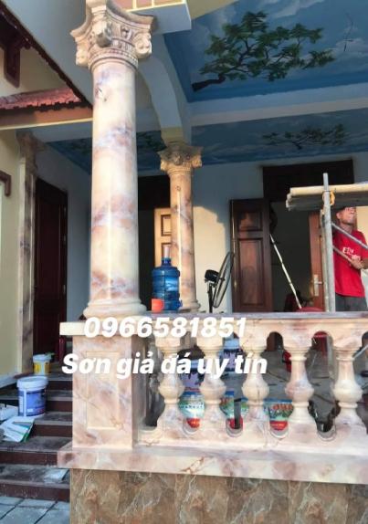 Thi công sơn giả đá cẩm thạch tại Hóc Môn thành phố Hồ Chí Minh
