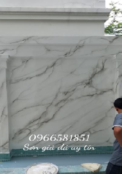 Sơn giả đá tường nhà