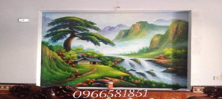 Vẽ tranh tường phong cảnh ại long