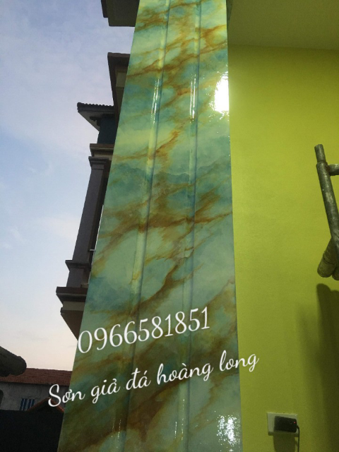 Nhận thi công sơn giả đá cột giả đá cẩm thạch tại Kiên Giang