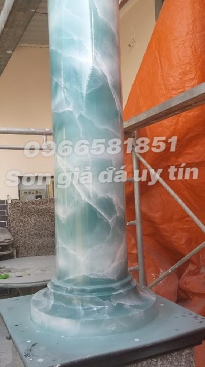 Sơn cột giả đá cẩm thạch tại tphcm