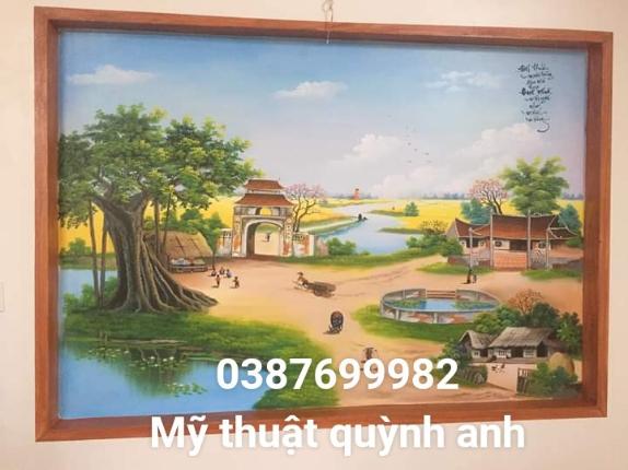 Vẽ tranh tường đồng quê tại bắc ninh