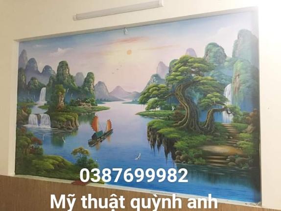 Vẽ tranh tường phong cảnh tại bắc ninh